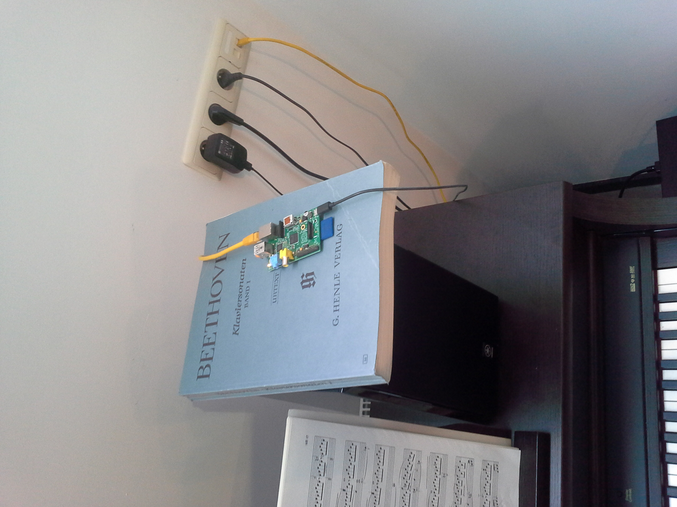 My raspberry pi at home